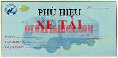 phù hiệu HTX xe tải sau thủ tục đăng ký biển số xe