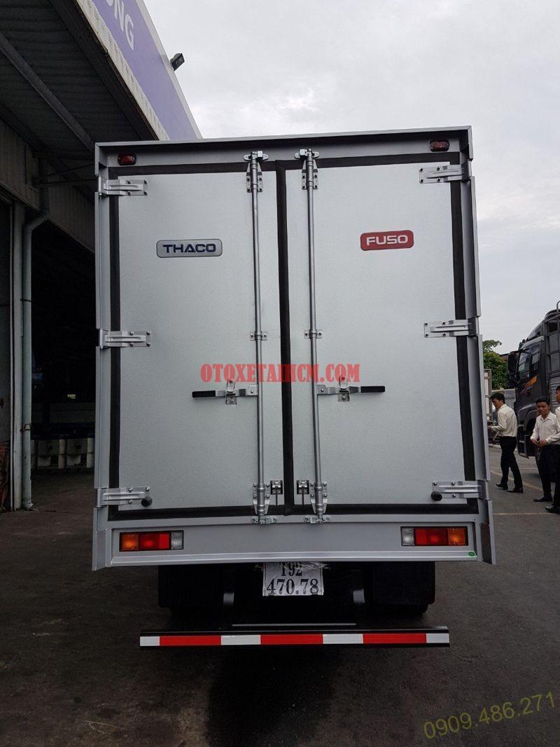 thùng kín xe tải fuso canter 4.99